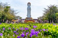 The Nanshan Temple - buddhist temple in Sanya, Hainan province in China. The statue of Guan Yin of the South Sea of Sanya