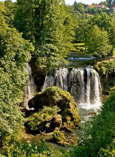 Rastoke, Croatia, waterfall in green nature