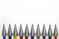Coloured pens.