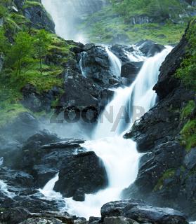 Latefossen waterfall