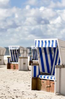 Strandkörbe am Strand von Sylt