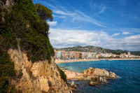 Town of Lloret de Mar on Costa Brava in Spain