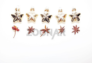 Anis with golden stars