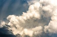 huge storm cloud, tower cumulus and cumulonimbus cloud