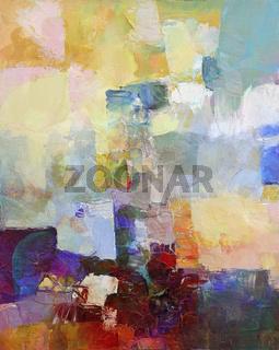 acrylic impasto painting