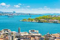 Panorama of Istanbul city