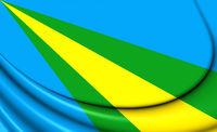 3D Flag of Zeewolde (Flevoland), Netherlands. 3D Illustration.