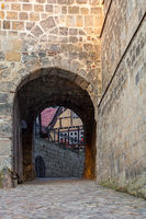 Aufgang zum Schloss Quedlinburg