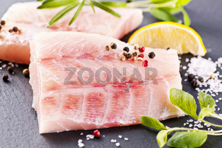 Ocean perch with fresh herbs and spices