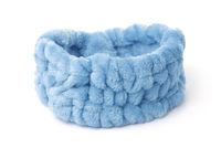 Blue elastic fluffy headband