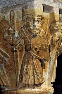 Frankreich: Kapitell in der Abtei St. Foy Conques
