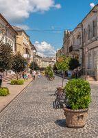 Pedestrian street in Zolochiv, Ukraine