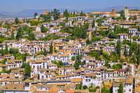 Albaicín Neighborhood from La Alhambra, Granada, Spain
