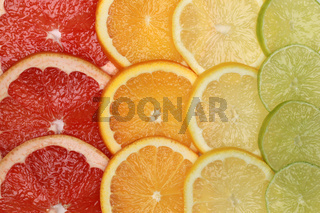 Hintergrund aus Zitrusfrüchten