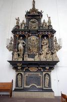 evangelische Neustädter Marienkirche aus dem 15. Jahrhundert - Epitaph