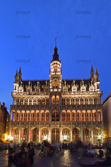 Maison du Roi in Brussels during the blue hour