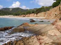 coastal landscape on the italian island sardinia