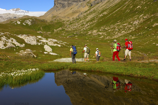 Hikers on route, Switzerland