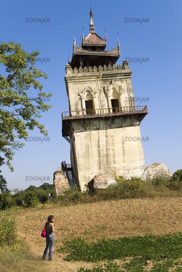 Nanmyin tower, Inwa, Mandalay-Division, Myanmar