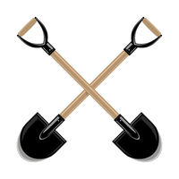 Garden Shovel Icon Isolated on White Background