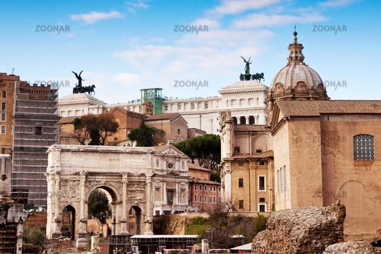 Roman ruins in Rome.