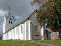 White gothic brick church in Thisted, Denmark