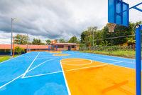 Panama, San Vicente town, Chiriqui Province, basketball court