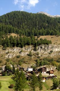 Weiler Eisten bei Blatten, Schweiz