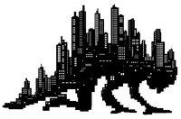 Skyline City Giant Silhouette