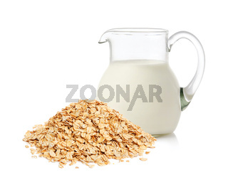 Oat flakes and milk