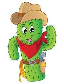 Cactus theme image 3 - picture illustration.