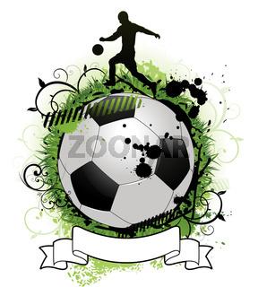 Colorful grunge soccer background