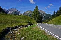 Hahntennjoch, alpine pass in Lechtaler alps, Austria, tyrol