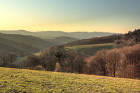 The Odenwald in the evening light