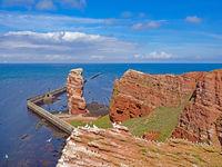 Heligoland high sea island upper land with red rocks, Germany