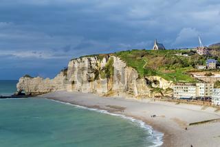 Cliffs in Etretat, France