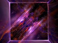 Abstract pattern with frame and chaos lines - 3d illustration