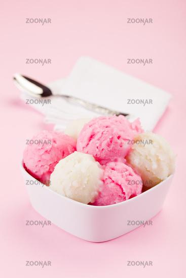 Strawberry Vanilla Ice Cream