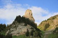 Roriwanghorn in summer. Beautiful shaped mountain peak.