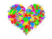 heart rainbow sky