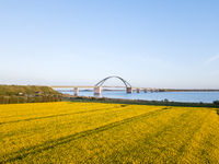 Fehmarn Bridge Aerial View