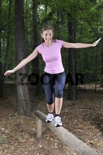 Fitness im Wald