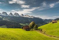 View of the Churfirsten, Canton St. Gallen, Switzerland