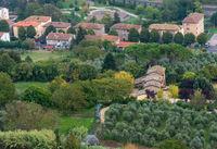 Tuscany landscape of the city of Orvieto Province of Terni, southwestern Umbria, Italy, Europe