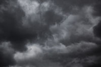 Dramatic sky with black stormy rainclouds