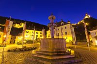 Market Square in the town of Friesach, Carinthia,