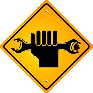 Hand mit Schraubschlüssel.eps