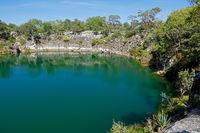 Scenic lake Otjikoto - Namibia