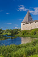 Ancient historical old Ladoga fortress in the village of Staraya Ladoga - Leningrad region Russia