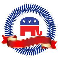 Republican Logo with Ribbon